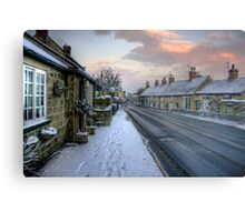 Village Snow Metal Print