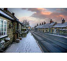 Village Snow Photographic Print