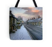 Village Snow Tote Bag