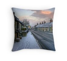 Village Snow Throw Pillow