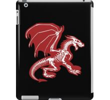 Black Background, Skeleton Dragon Design, Bag of Bones Dragon iPad Case/Skin