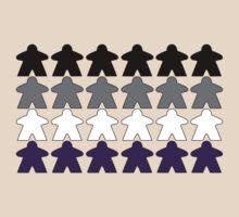 Asexual Pride (Meeple Edition) by BasiliskOnline