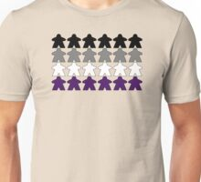 Asexual Pride (Meeple Edition) Unisex T-Shirt