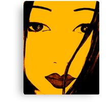 Seduction of the eyes Canvas Print