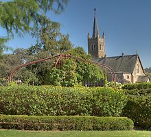 Carrington Park & St Mary's Catholic Church Young NSW  by Adrian Paul