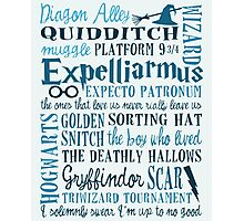 Harry Potter All Quotes - Harry Potter Addicted Photographic Print