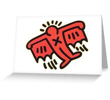 Keith Haring - Flying Devil Greeting Card