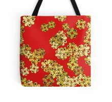 Avocado Floral Green and Red Tote Bag