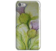 Scottish Thistle duvet king size iPhone Case/Skin