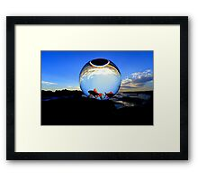 """WATCHING THE WORLD SPIN ROUND "" Framed Print"