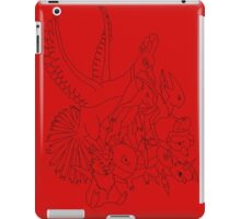 Red Pokemon (Generations 1/2) (Black Outline) iPad Case/Skin