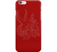 Red Pokemon (Generations 1/2) (White Outline) iPhone Case/Skin