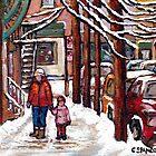 BEST MONTREAL ART VERDUN MONTREAL STREET SCENE PAINTING CANADIAN ART by Carole  Spandau