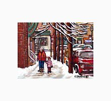BEST MONTREAL ART VERDUN MONTREAL STREET SCENE PAINTING CANADIAN ART Unisex T-Shirt