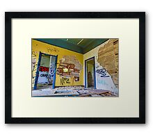 Vibrant Destruction Framed Print