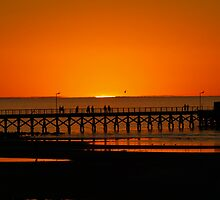 Sunset Moonta Bay by BarbJK