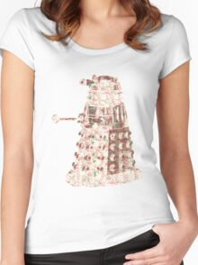 Floral Dalek Women's Fitted Scoop T-Shirt