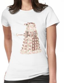 Floral Dalek Womens Fitted T-Shirt