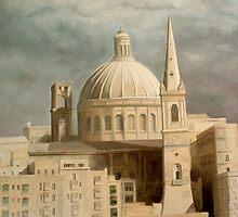 Carmelite Church at Valletta. by BRIMMER