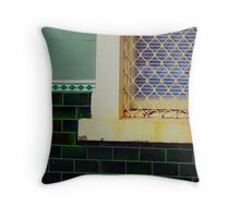 Green and Screen Throw Pillow