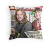 Gypsies with dog Throw Pillow