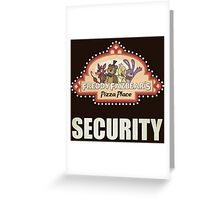 Five Nights at Freddy's Freddy Fazbear's Security Logo Greeting Card