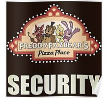 Five Nights at Freddy's Freddy Fazbear's Security Logo Poster