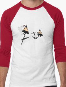 Ninja Triangles Men's Baseball ¾ T-Shirt