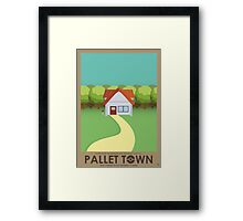 Pallet Town Poster Framed Print