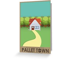 Pallet Town Poster Greeting Card