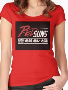 Red Suns. Women's Fitted Scoop T-Shirt