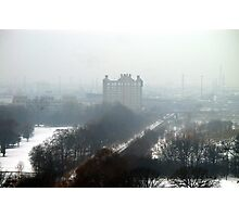 Goodmorning....Toronto~ Soggy, drizzle, fog, +10: Broken a 30 year Record... Photographic Print