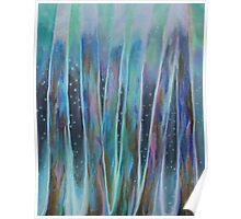 Aurora Borealis Trees Bioluminescent Poster