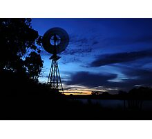 River Windmill Photographic Print