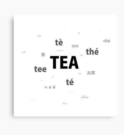 Tea - different languages Canvas Print