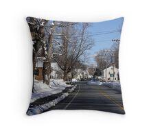 Downtown New England, Francestown, NH Throw Pillow