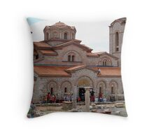 Sveti Kliment Cathedral Throw Pillow
