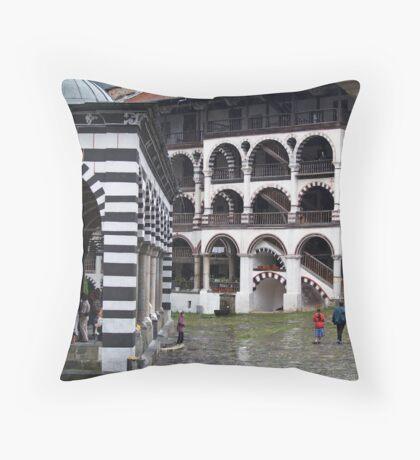 Rila Monastery  Throw Pillow