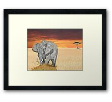 Savana Elephant Justin Beck Picture 2015085 Framed Print