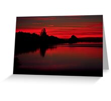 Sunset at Cape Mears Lake Greeting Card