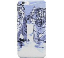 Snow Tigers Blue Justin Beck Picture 2015088 iPhone Case/Skin