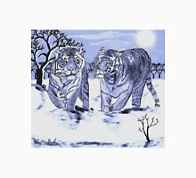 Snow Tigers Blue Justin Beck Picture 2015088 Unisex T-Shirt