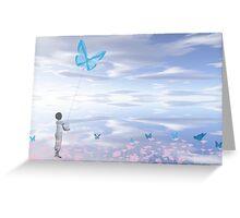 Little Kite Flyer Greeting Card