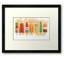 Different is Cool Framed Print