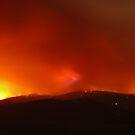 Fires around Healesville, Yarra Valley 9th Feb 09. by Ern Mainka