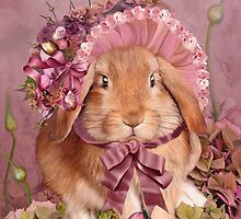 Bunny In Easter Bonnet by Carol  Cavalaris