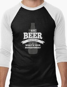 Beer Super Powers Men's Baseball ¾ T-Shirt