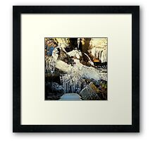 Ice Lady in Her Magic Chamber Framed Print