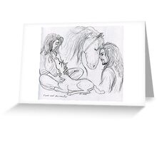 Eomer and Firefoot Greeting Card
