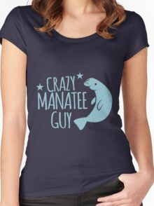 Crazy manatee guy Women's Fitted Scoop T-Shirt